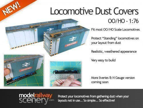KX042-OO Locomotive Steam Era Design Dust Cover Kit OO/4mm/1:76 (Pack Of Two)